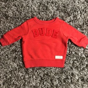 """BABY: 3 MO CATERS """" DUDE"""" SWEATER 100% COTTON"""